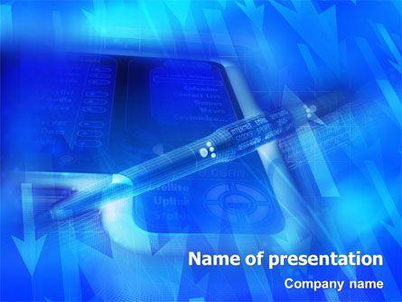 http://www.pptstar/powerpoint/template/high-tech-digital-pen, Modern powerpoint