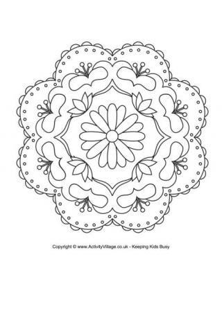 Rangoli Coloring Pages for Diwali DIY Pinterest Diwali