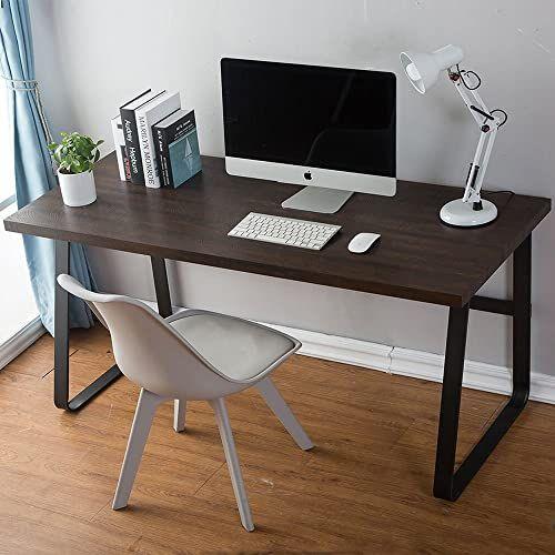 Best Seller Artdeco Vintage Computer Desk Wood Metal Writing Desk Pc Laptop Home Office Study Table Espresso 55 Inch Online In 2020 Wood Computer Desk Home Office Furniture Home Office Design