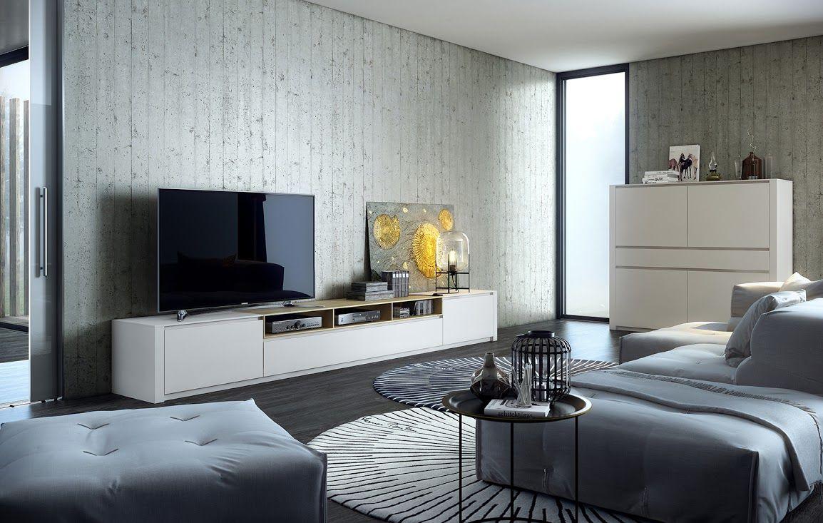 Mueble De Tv En Madera Y Laca En Todas Las Medidas Y Acabados  # Hamilton Atylia Meuble Tv