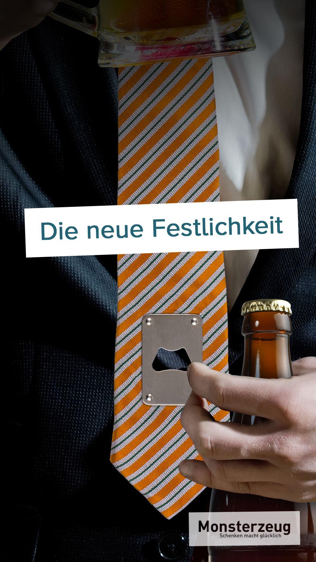 Schlips mit Flaschenöffner #adventskalendermann