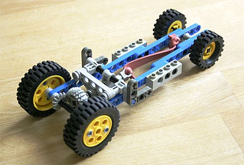 how to make a rubber band propelled car