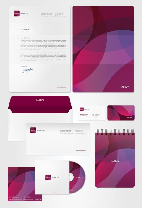 The Beauty of Corporate Identity (INNOVA INTERACTIVE – IDENTITY by Mohd Almousa)