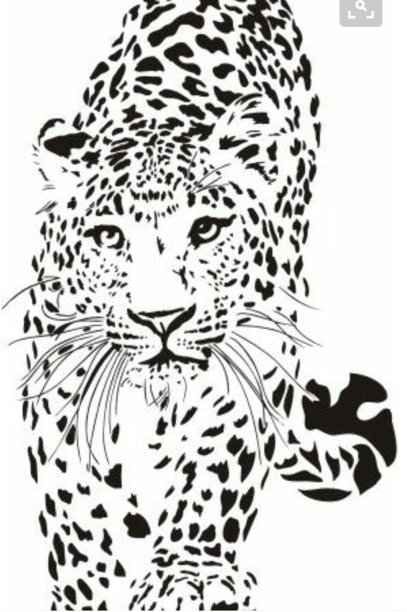 Pin by erica ashton on paper cutting pinterest dessin pochoir and animaux - Coloriage tigre ...