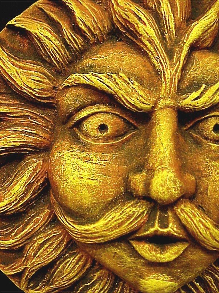 Образ солнца в искусстве. - Sun Face Wall Plaque .Неспящие в ...