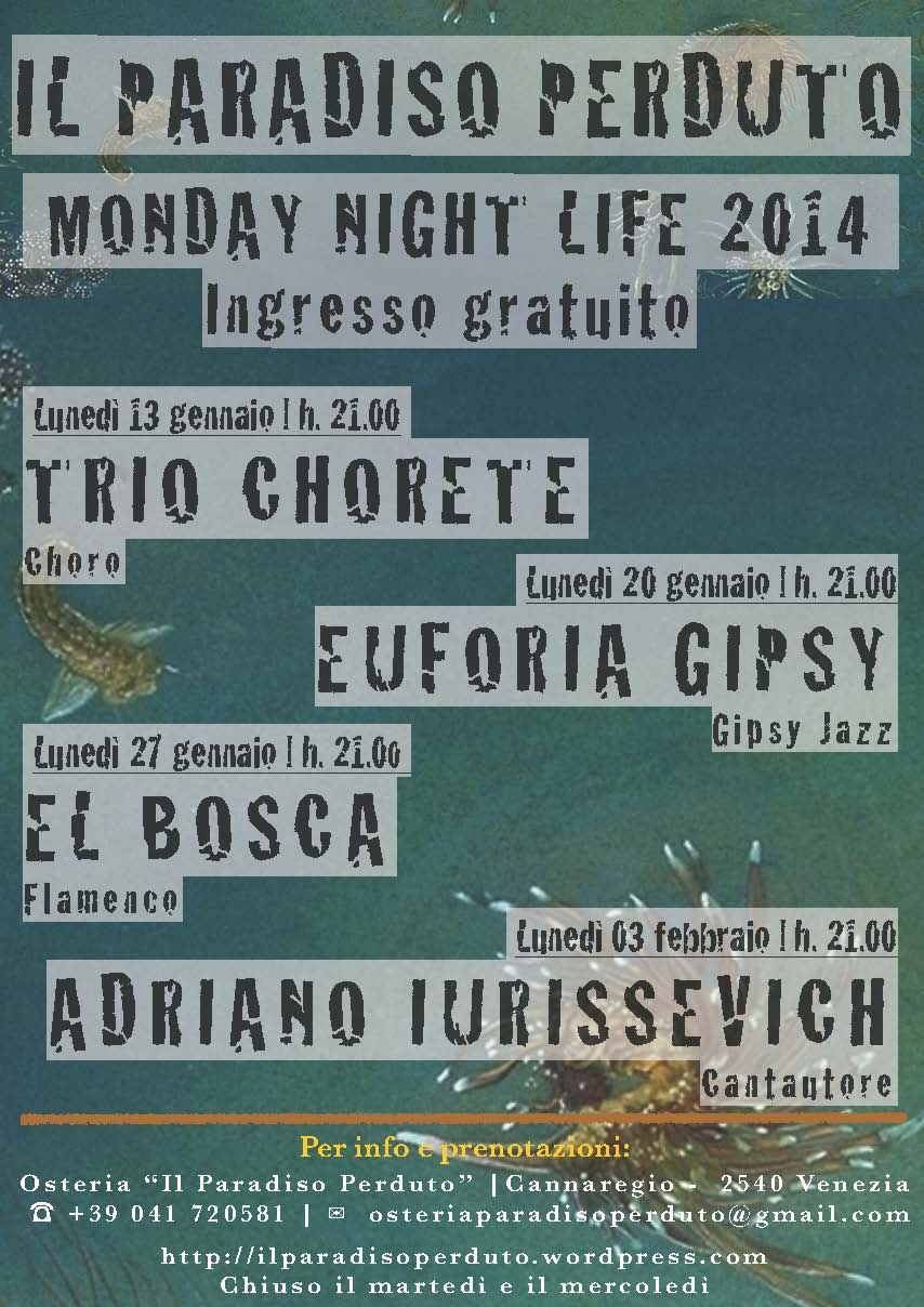 Programma concerti febbraio 2014