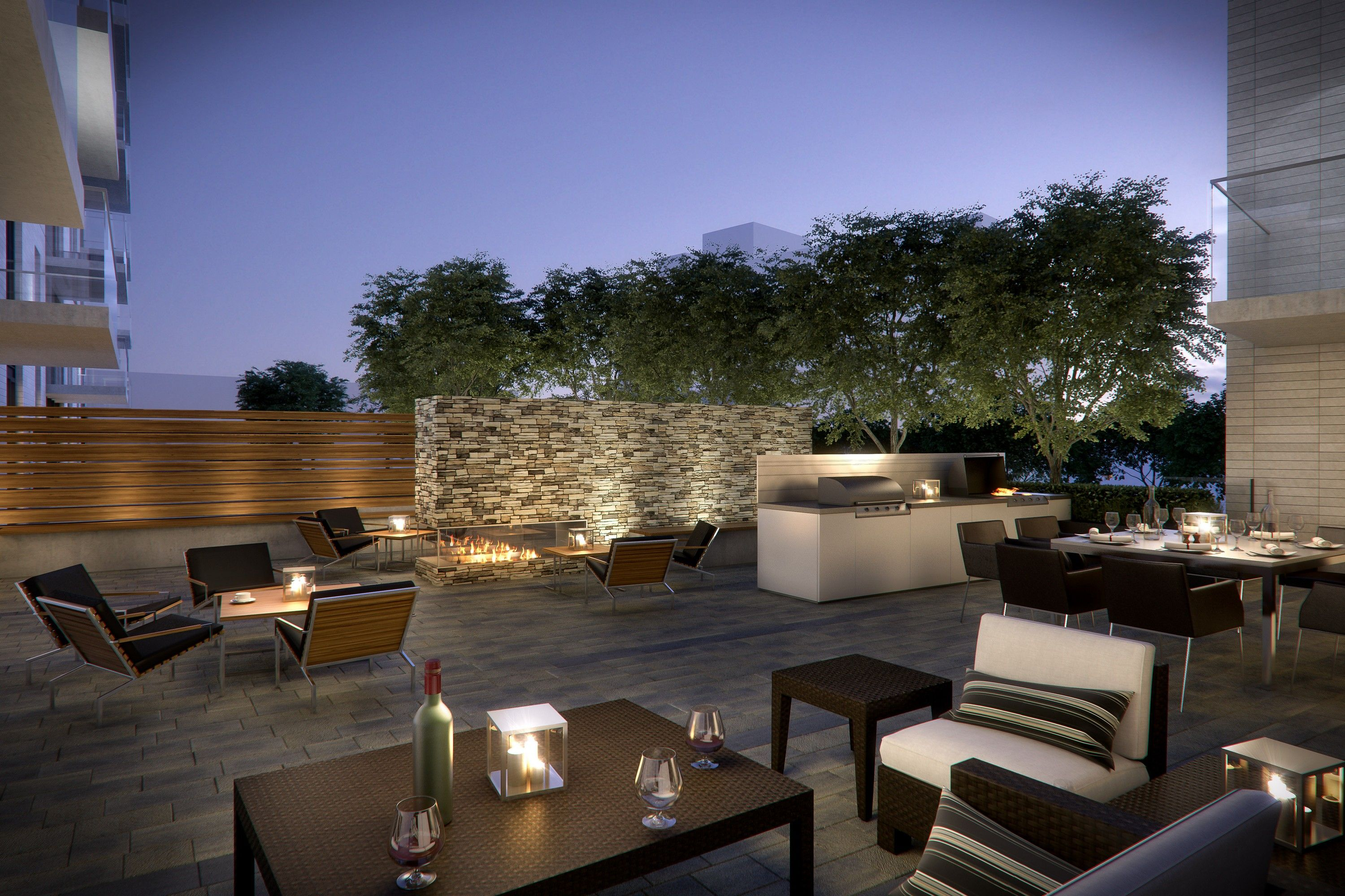 Outdoor Terrace Gardens With Bbq And Dining To Entertain