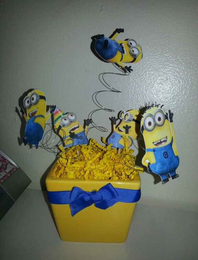 Minion Baby Shower Centerpieces Minions Party Ideas Pinterest