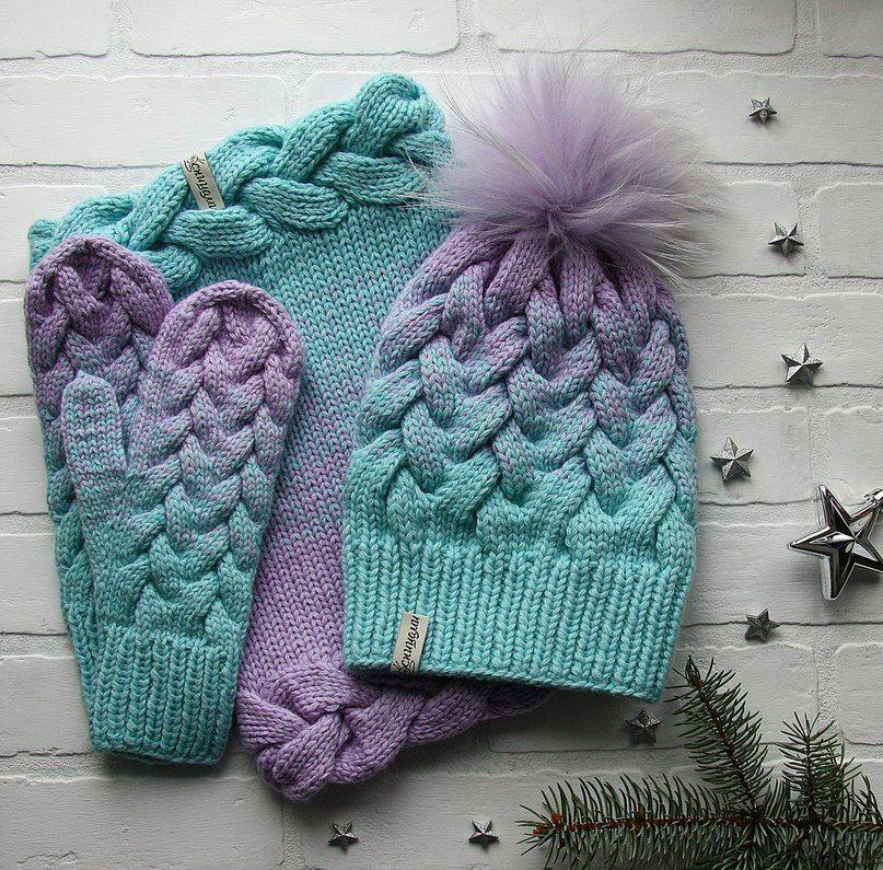 красиво спицами вязаные вещи ручной работы Crochet And Knit
