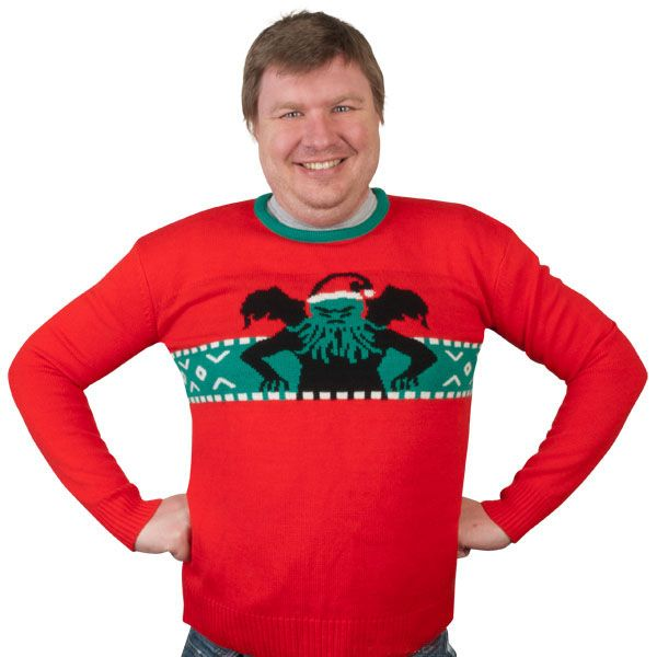 Cthulhu Christmas Sweater | Cthulhu, Santa claus hat and Xmas