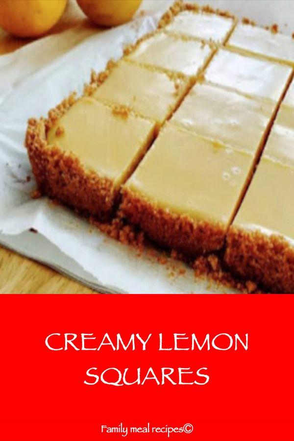 Creamy Lemon Squares In 2020 With Images Lemon Squares Recipe Meyer Lemon Recipes Lemon Desserts