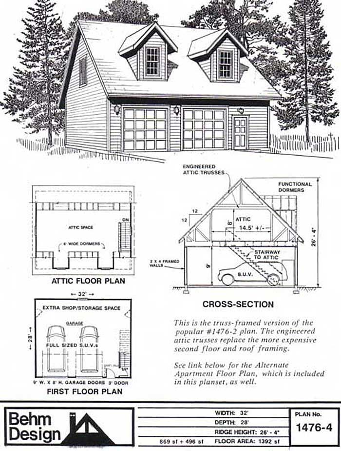 2 Car Garage Plan With Two Story Apartment 1307 1baptbehm Garage Plans Apartment Plans Apartment Floor Plans Garage House Plans