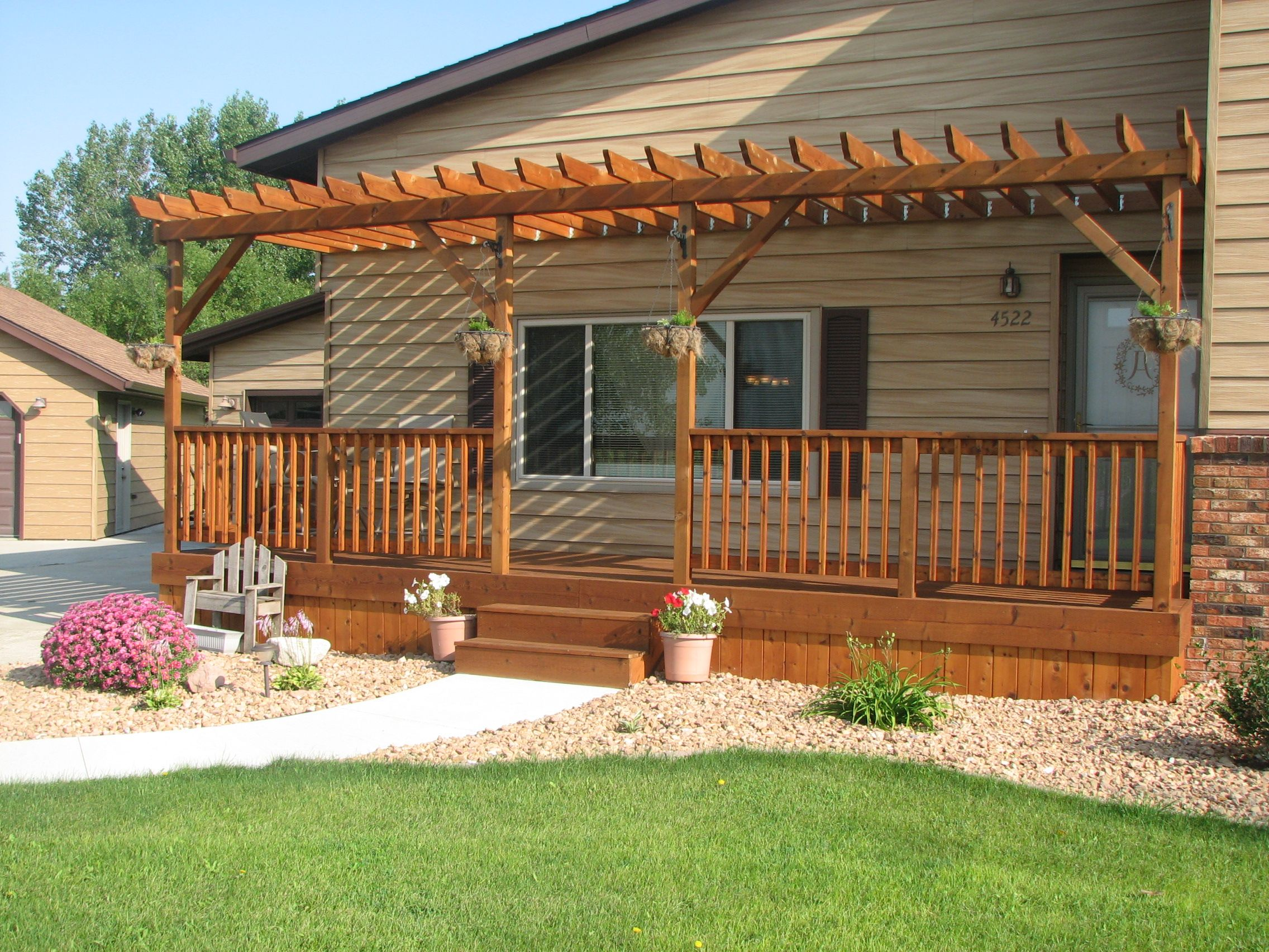 Dreaming is free front porch pergola pergola ideas and for Piani di garage free standing