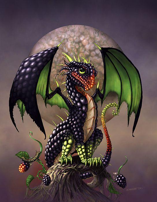 Blackberry Dragon Digital Art