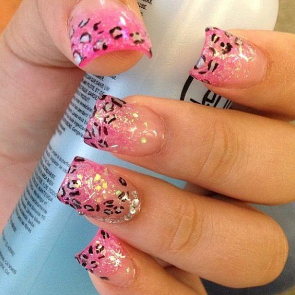 Nail Design Nails Pinterest Leopard Nail Art Leopard Nails