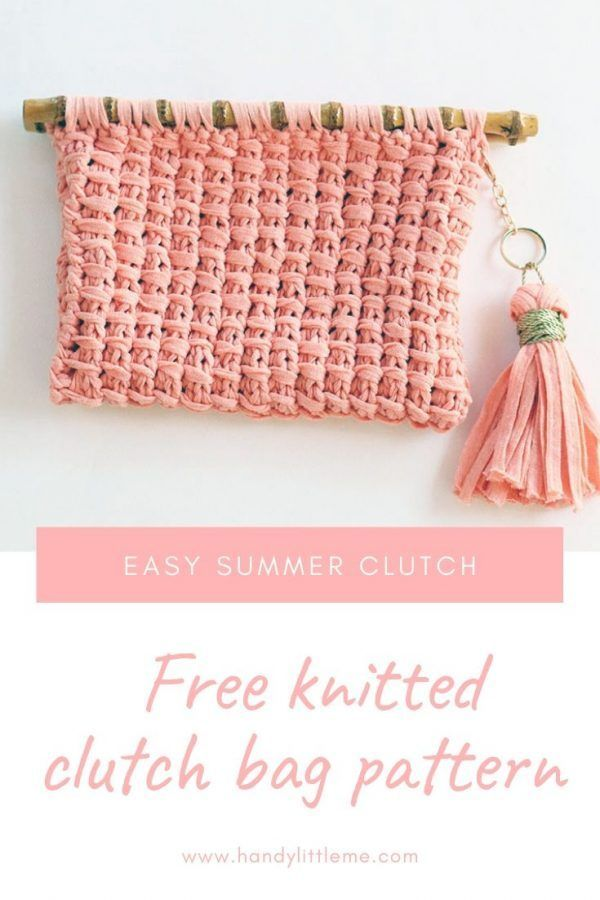 Clutch Bag Pattern | Clutch bag pattern, Knitting, Bag ...