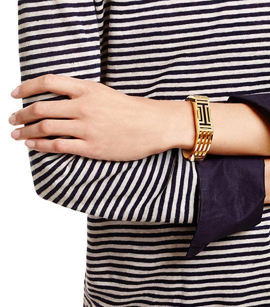 e71bd67f4d8 Tory Burch Fitbit Flex Metal Hinged Bracelet   Sports   Fitness   Women s  Gifts Under  250