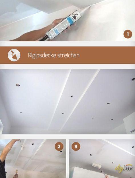 rigipsdecke streichen tipps und tricks tipps und anleitungen. Black Bedroom Furniture Sets. Home Design Ideas