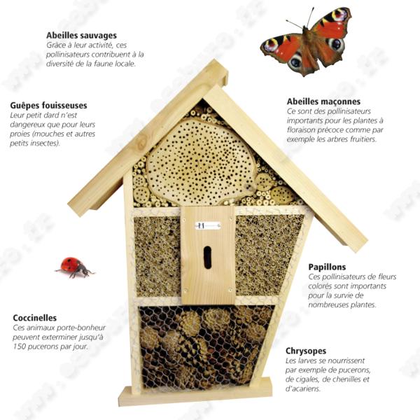 pour attirer les insectes utiles dans votre jardin rien de tel que de leur offrir un abri pour. Black Bedroom Furniture Sets. Home Design Ideas