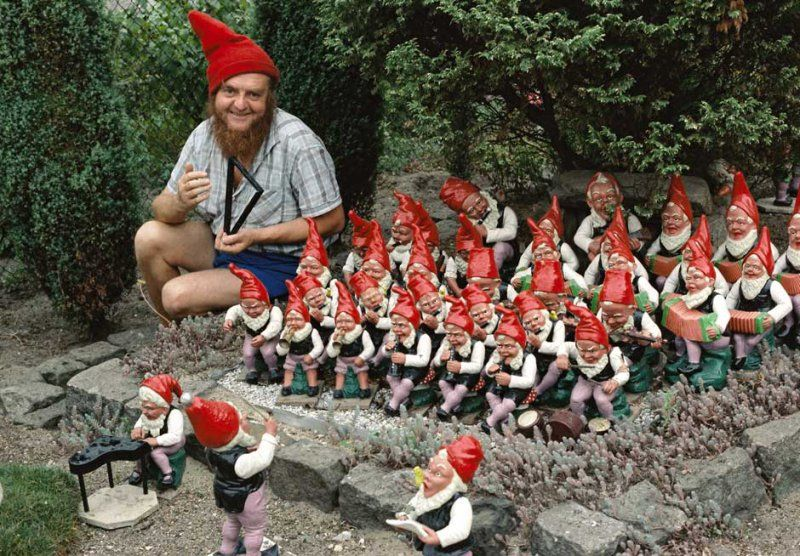 Grown Man Plays in Gnome Orchestra