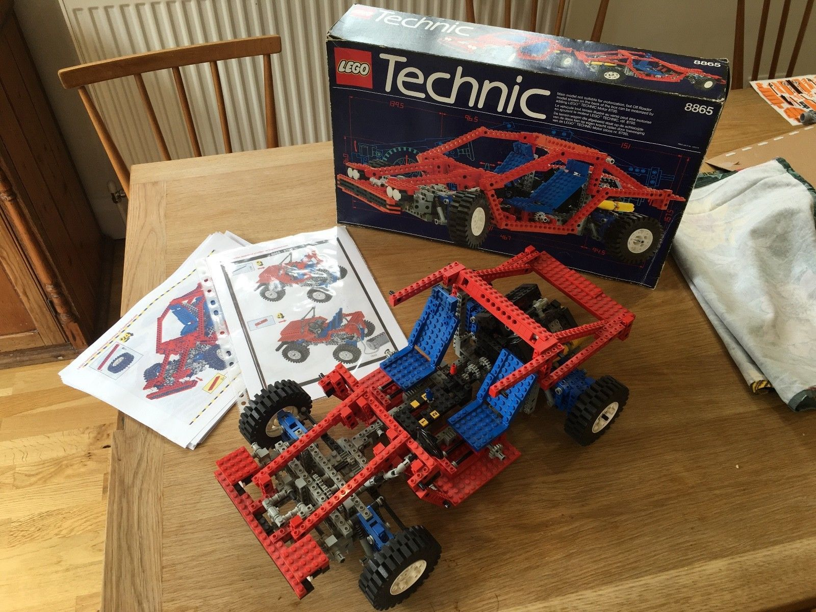 Technic Lego car set 8865, which I was given for Christmas