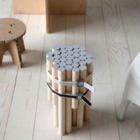 Diy Simpler Hocker Aus Holzstielen Zukünftige Projekte Hocker