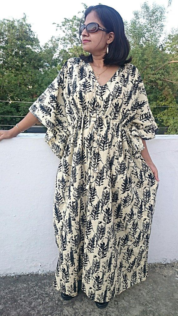 e21534fd79e29 ... PLEASE VISIT HOME PAGE OF THE SHOP SUPERCOMFORTABLE AND SOFT COTTON  HANDBLOCKED PRINTED BEIGE COLORED COTTON CAFTAN MAXI DRESS AVAILABLE IN  NURSING/ ...