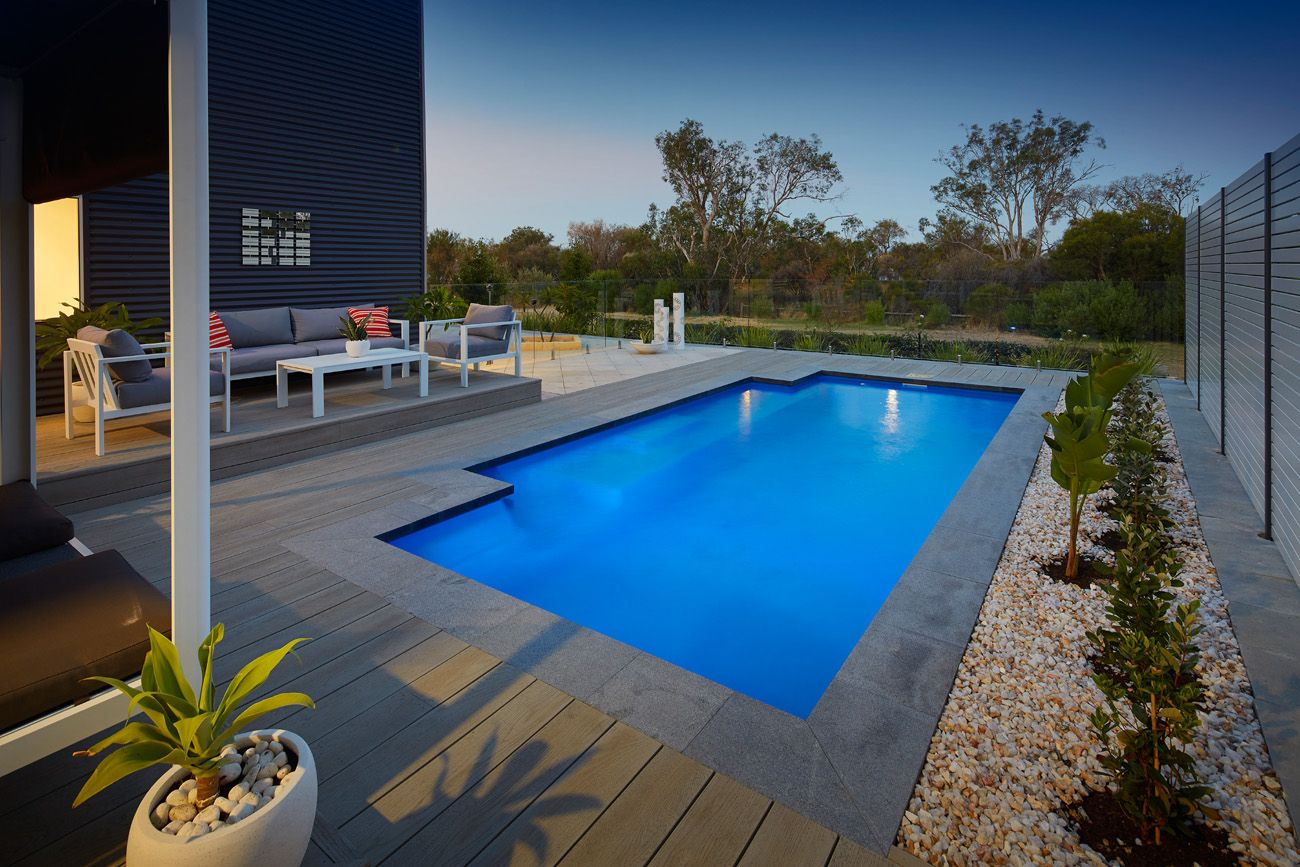 Wa Fibreglass Pools Medium Size Majestic Pools Backyard Pool Designs Stone Pool Pool Pavers