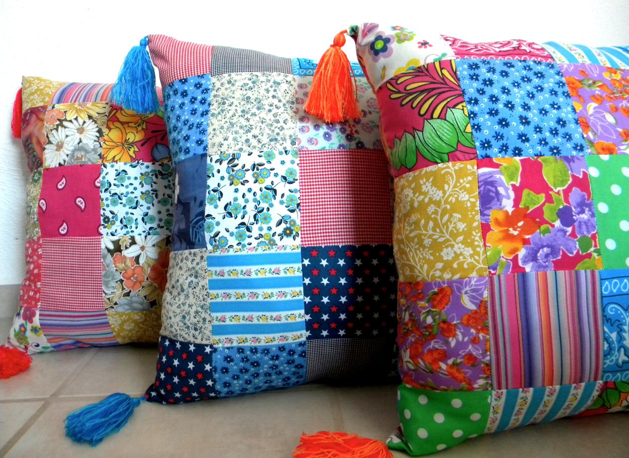 Cojines patchwork craft estudio - Proyectos de patchwork ...