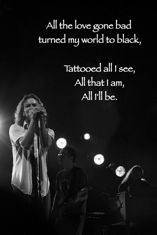Black Pearl Jam Lyrics Music Amp More Pearl Jam