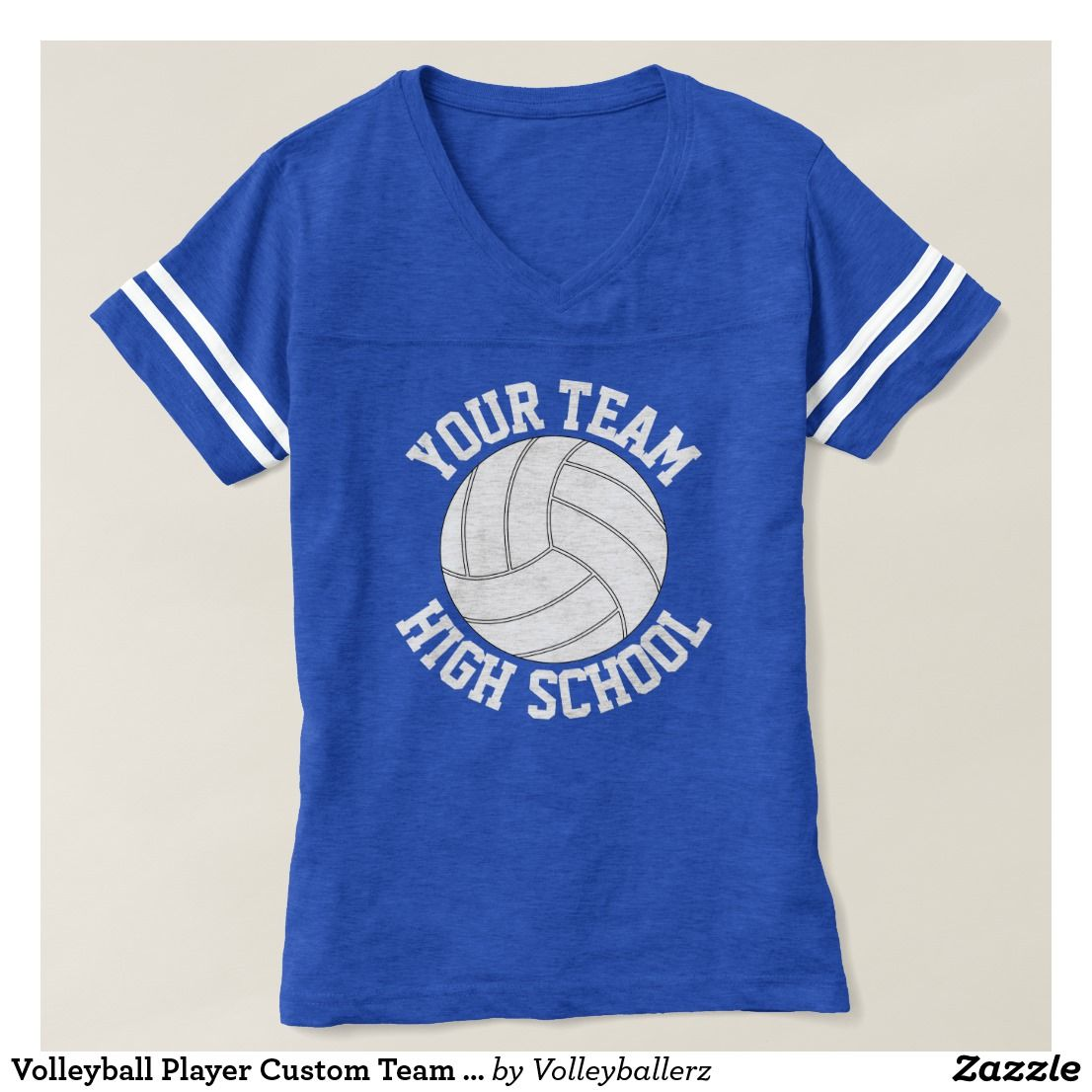 Volleyball Player Custom Team Name Jersey T Shirt Zazzle Com Customizable Shirts Shirts Volleyball Players