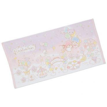 "Little Twin Stars Cotton Bath Towel 23""x47"" 60x120cm Sanrio Japan Exclusive"