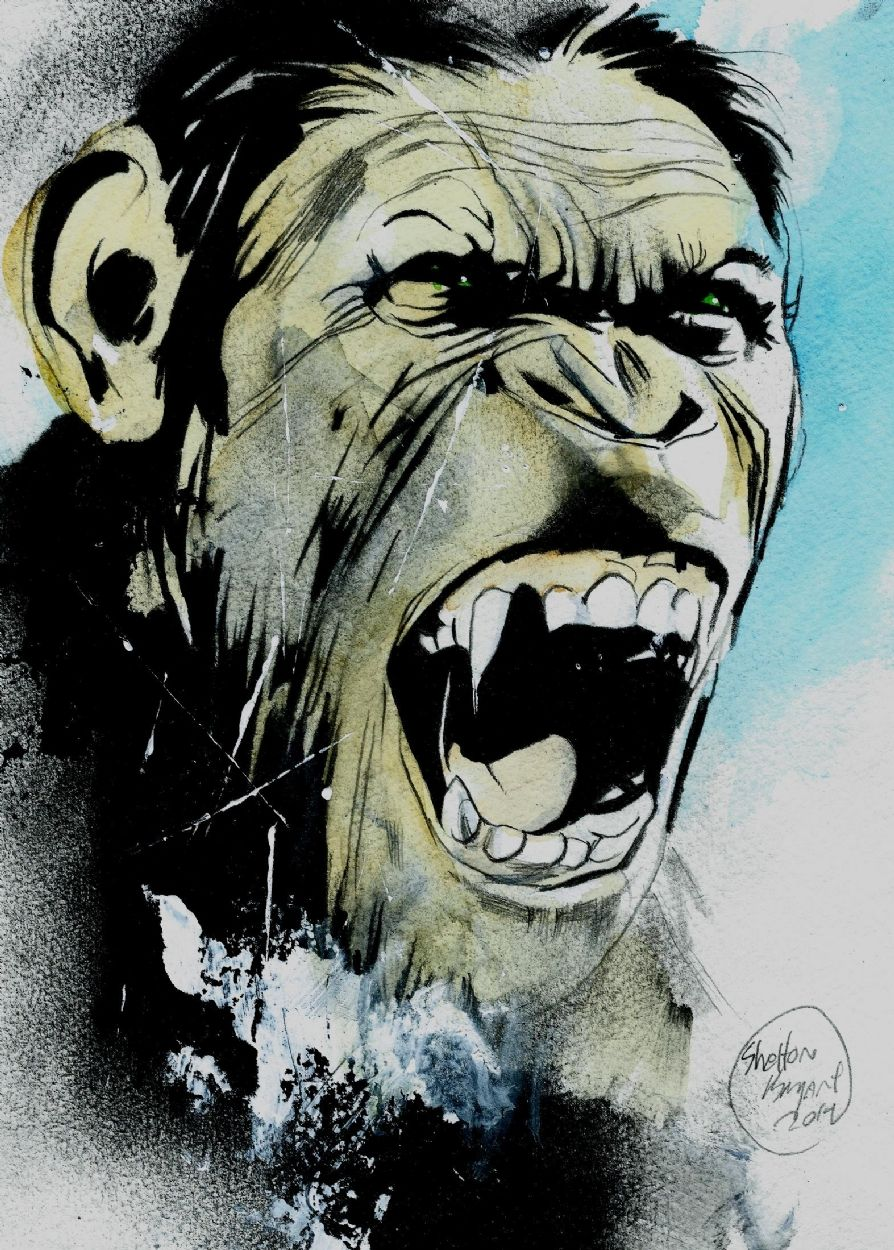Rise Of The Planet Of The Apes By Shelton Bryant Planet Of The Apes Movie Art Comic Art