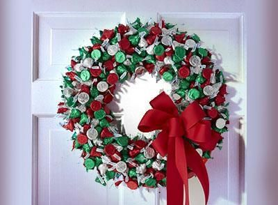 Hersheys Kisses Wreath Simple To Make Styrofoam Wreath