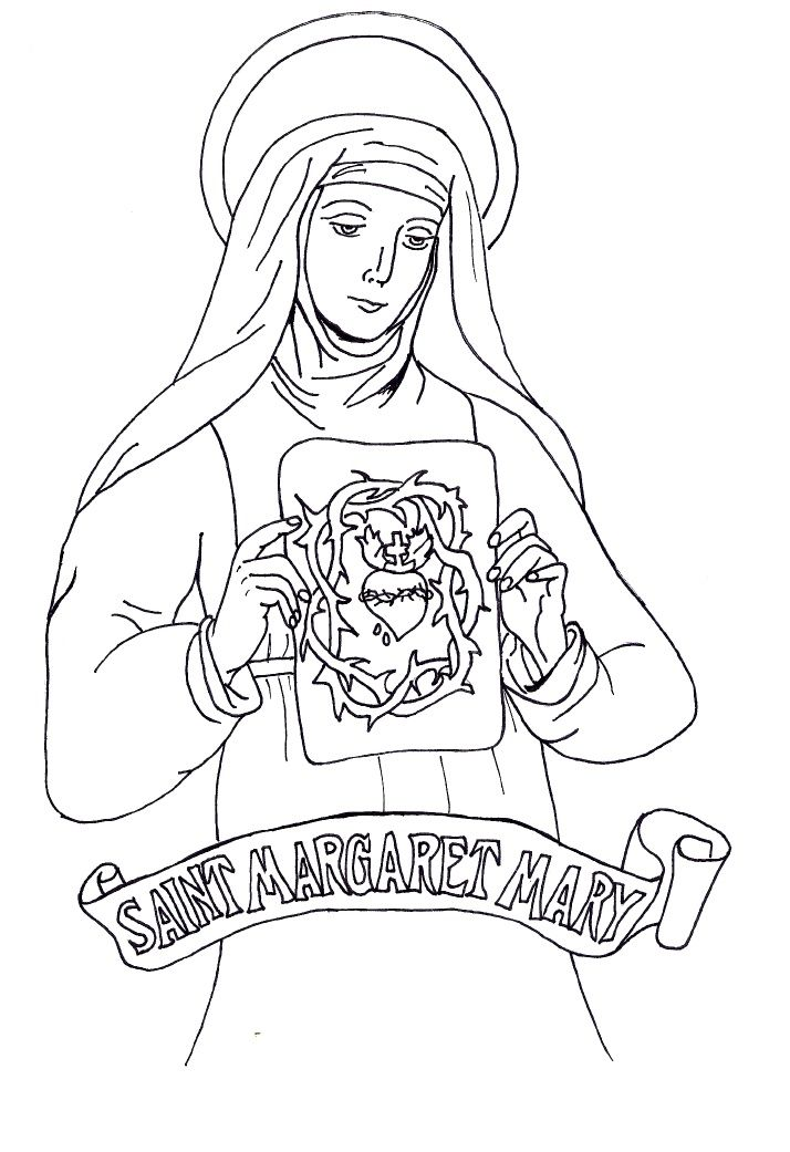 St Margaret Mary Alacoque Imagens Catolicas