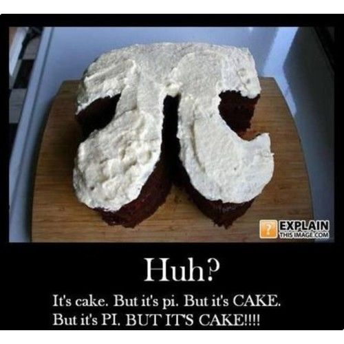 Pi cake.