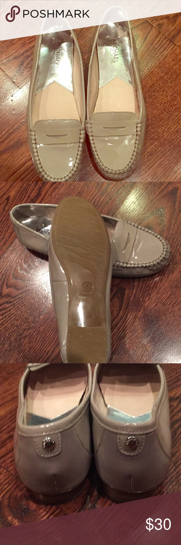 Michael Kors Gray Patent Loafers 8 1/2 Like new MK gray patent loafers. Wore once! Excellent condition. Size 8 1/2 MICHAEL Michael Kors Shoes Flats & Loafers