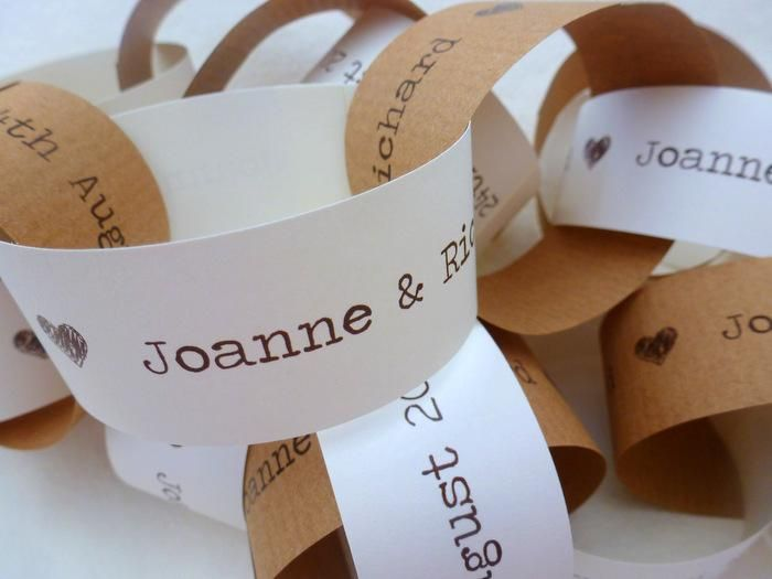 save the date paperchain