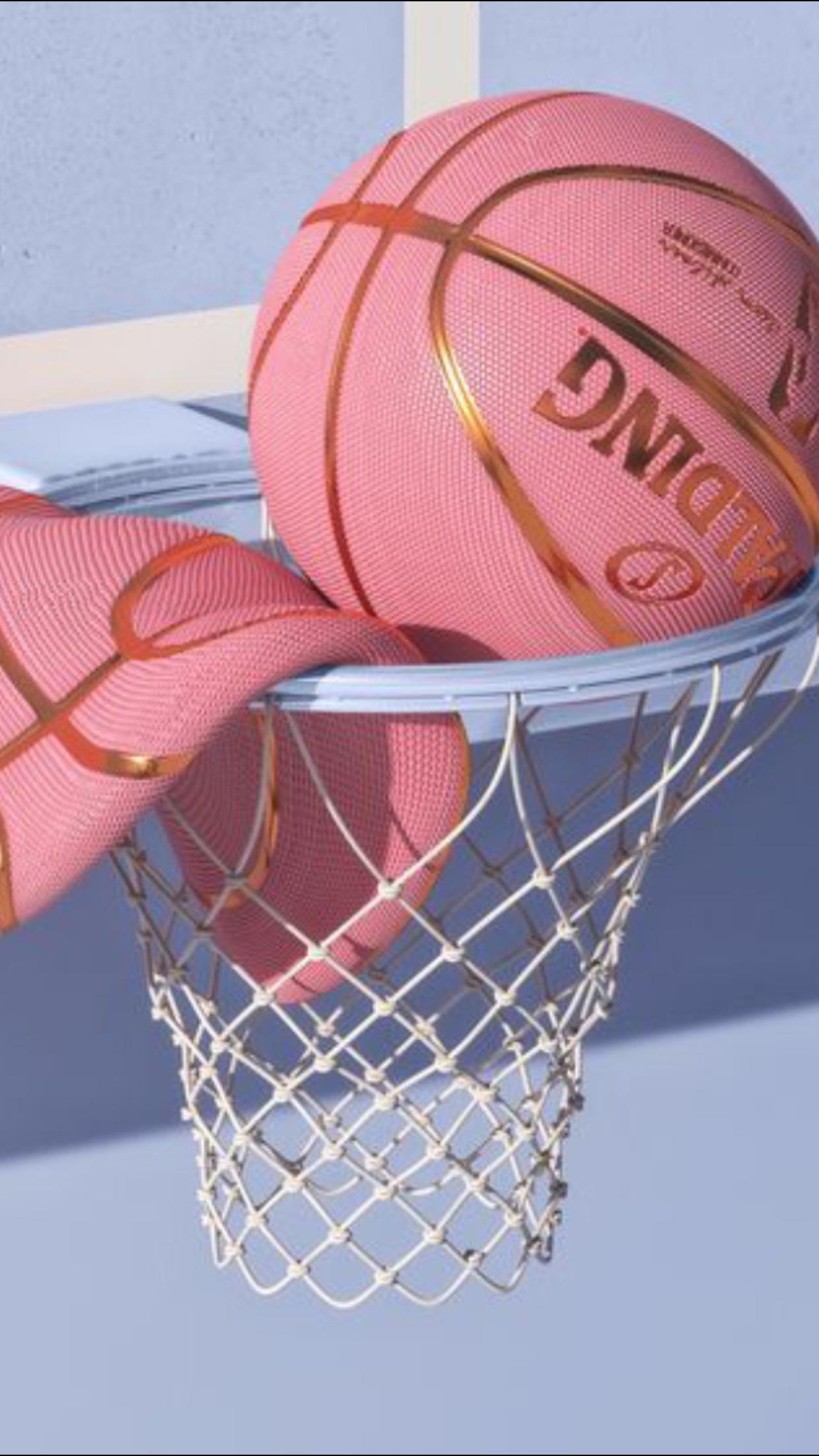 Pastel Aesthetic Pink Basketball Art Collage Wall Pastel Pink Aesthetic Aesthetic Pastel Wallpaper