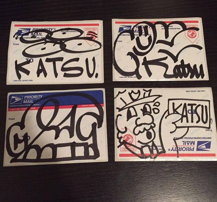 Katsu btm bluetop handmade oneliner graffiti katsubtm nyc stickers