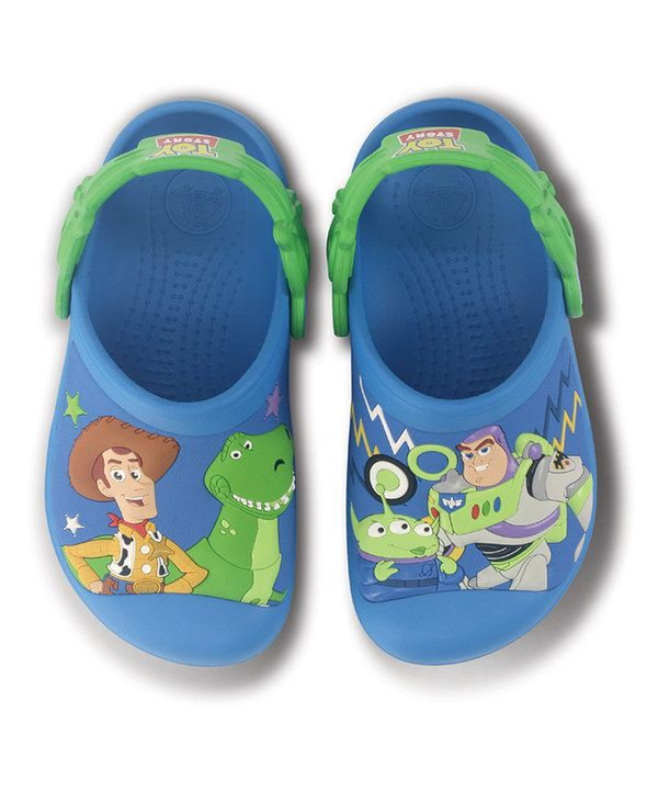 0f9607d6f Look at this Crocs Ocean   Lime Toy Story Clog on  zulily today ...