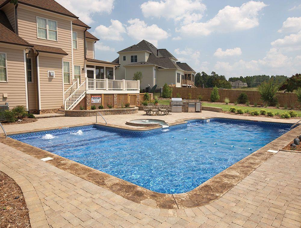 20 X 45 X 36 L Shape Swimming Pool Kit With 42 Polymer Walls Backyard Pool Landscaping Swimming Pool Kits Backyard Pool