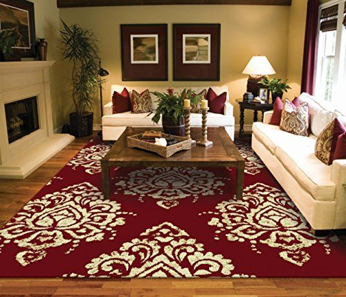 Luxury Burgundy Cream Rugs For Front Door Kitchen Small Bedroom Rug Red Contemporary Modern