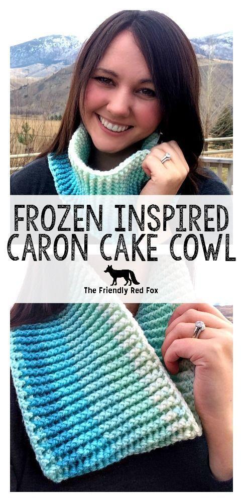 Free Pattern Frozen Inspired Caron Cake Cowl Part 2 | Free Crochet ...