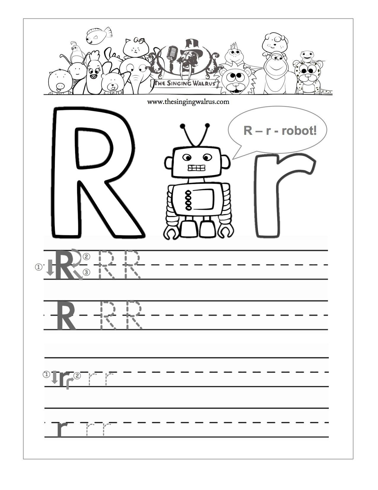 Letter Writing Template For Kindergarten New Letter R