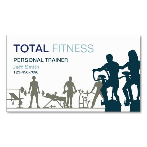 Personal trainer business card template nvjegyek pinterest personal trainer business card template cheaphphosting Image collections