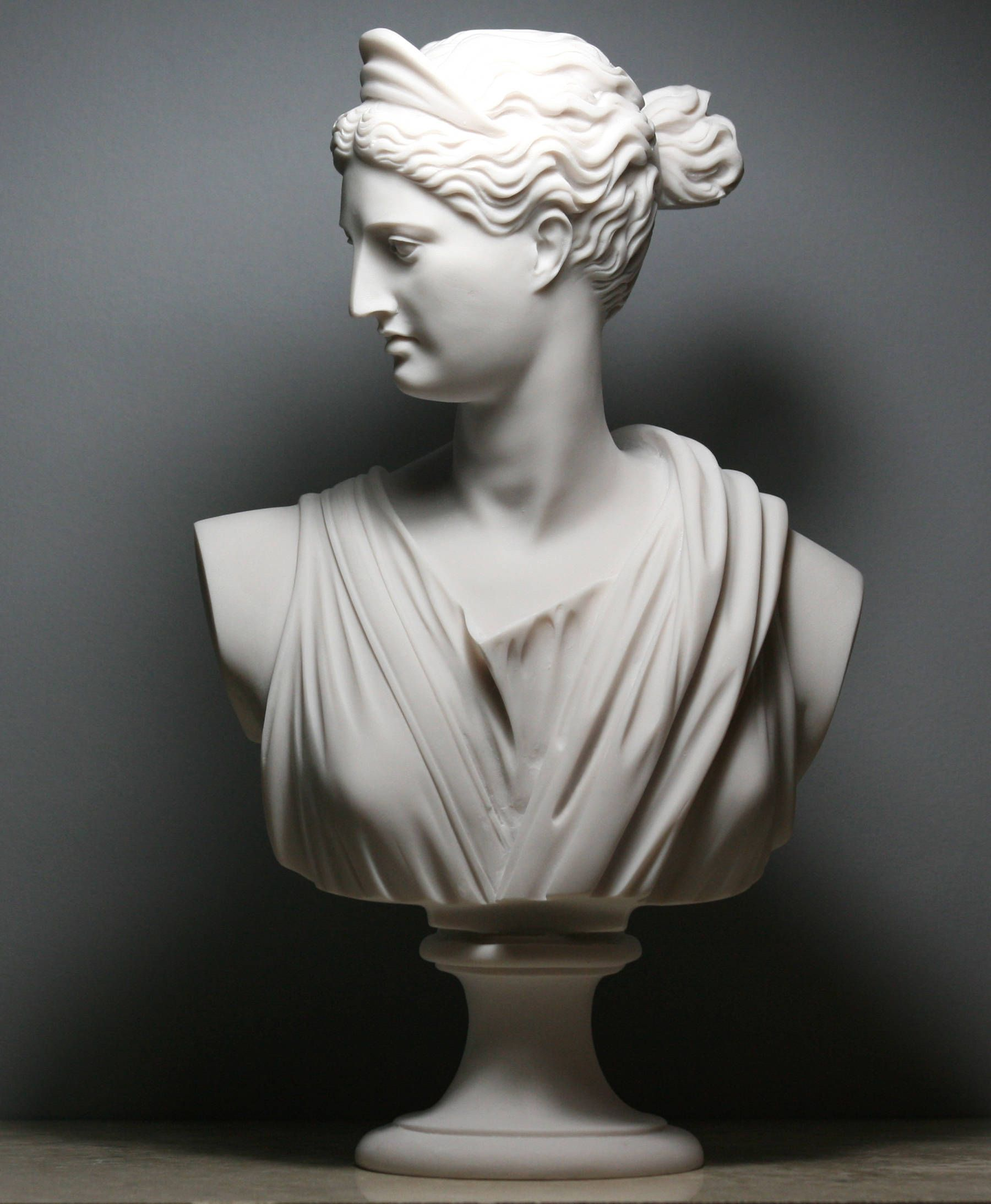 Artemis Diana Bust Head Greek Roman Goddess Cast Marble Statue Sculpture 11 8in 30 Cm Goddess Statue Statue Marble Statues