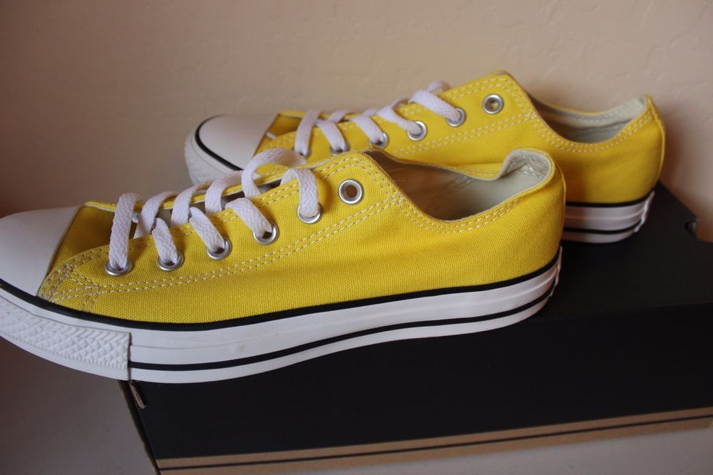 9acd4a8749d527 Converse All Star Chuck Taylor CT OX Citrus Yellow Women s Size 10 Men s  Size 8  Converse  FashionSneakers