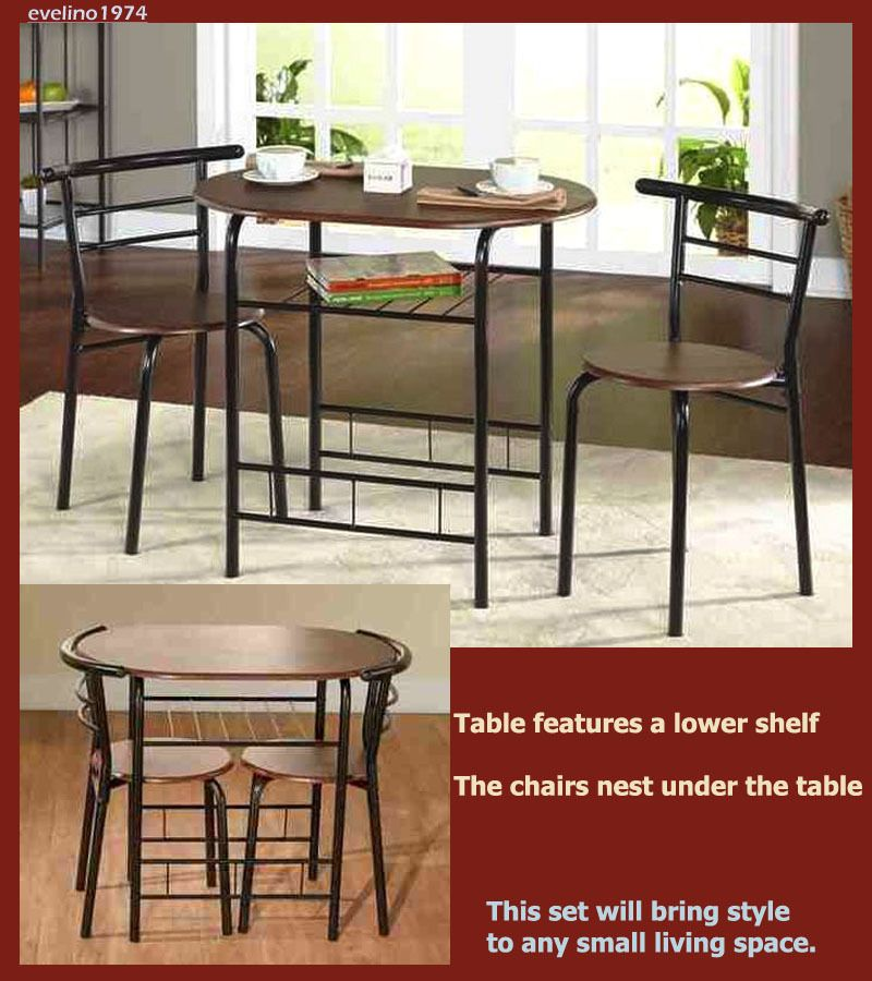 3 Piece Bistro Dinette Set 1 Practical Dining Table 2 Chair Small Kitchen Patio Dining Furniture Sets Indoor Patio Furniture Bistro Set