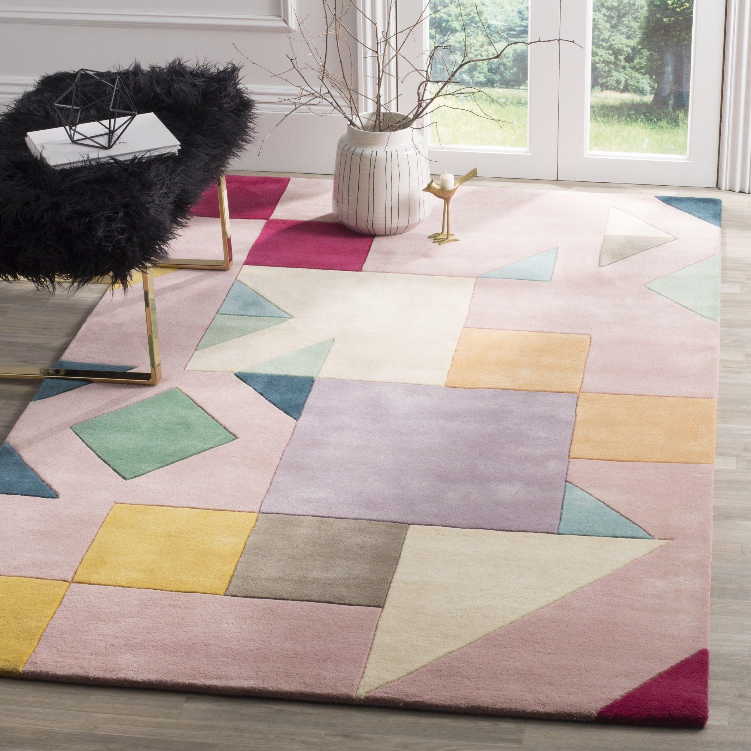 Safavieh Fifth Avenue Hand Woven New Zealand Wool Pink Multi Area Rug 4